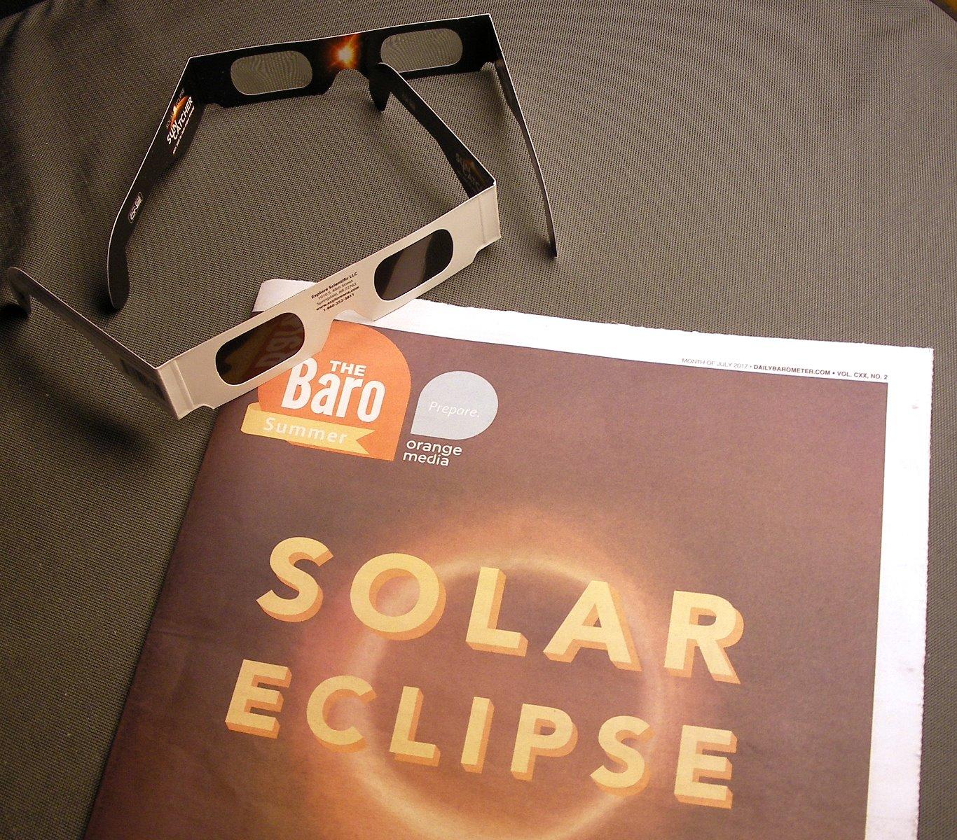 solar eclipse glasses OSU student newspaper Jul. 2017 p. 1