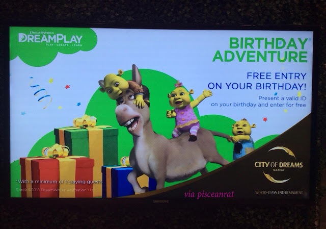 dream play city of dreams free entrance birthday celebrant