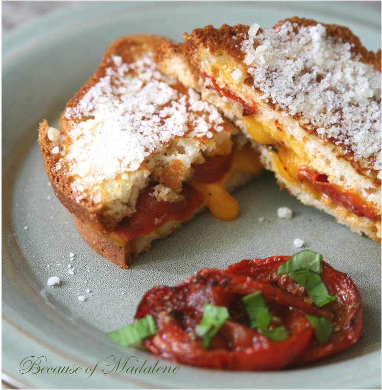 Because of Madalene: Roasted Tomato Grilled Cheese Sandwich