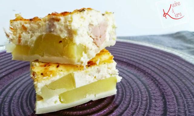 Torta salata con ricotta, tonno e patate