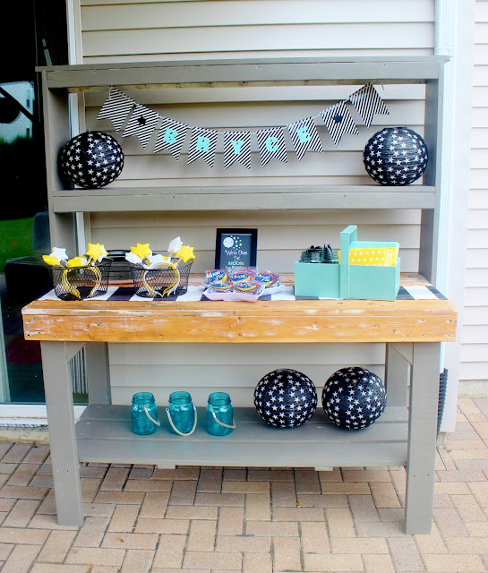 potting bench party serving station