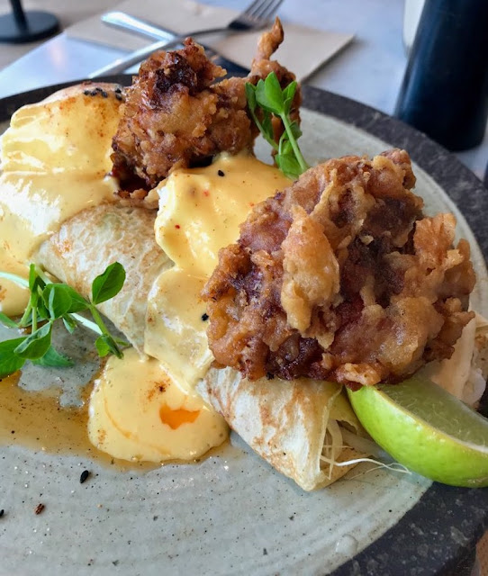 The Penny Drop, Box Hill, soft shell crab benedict