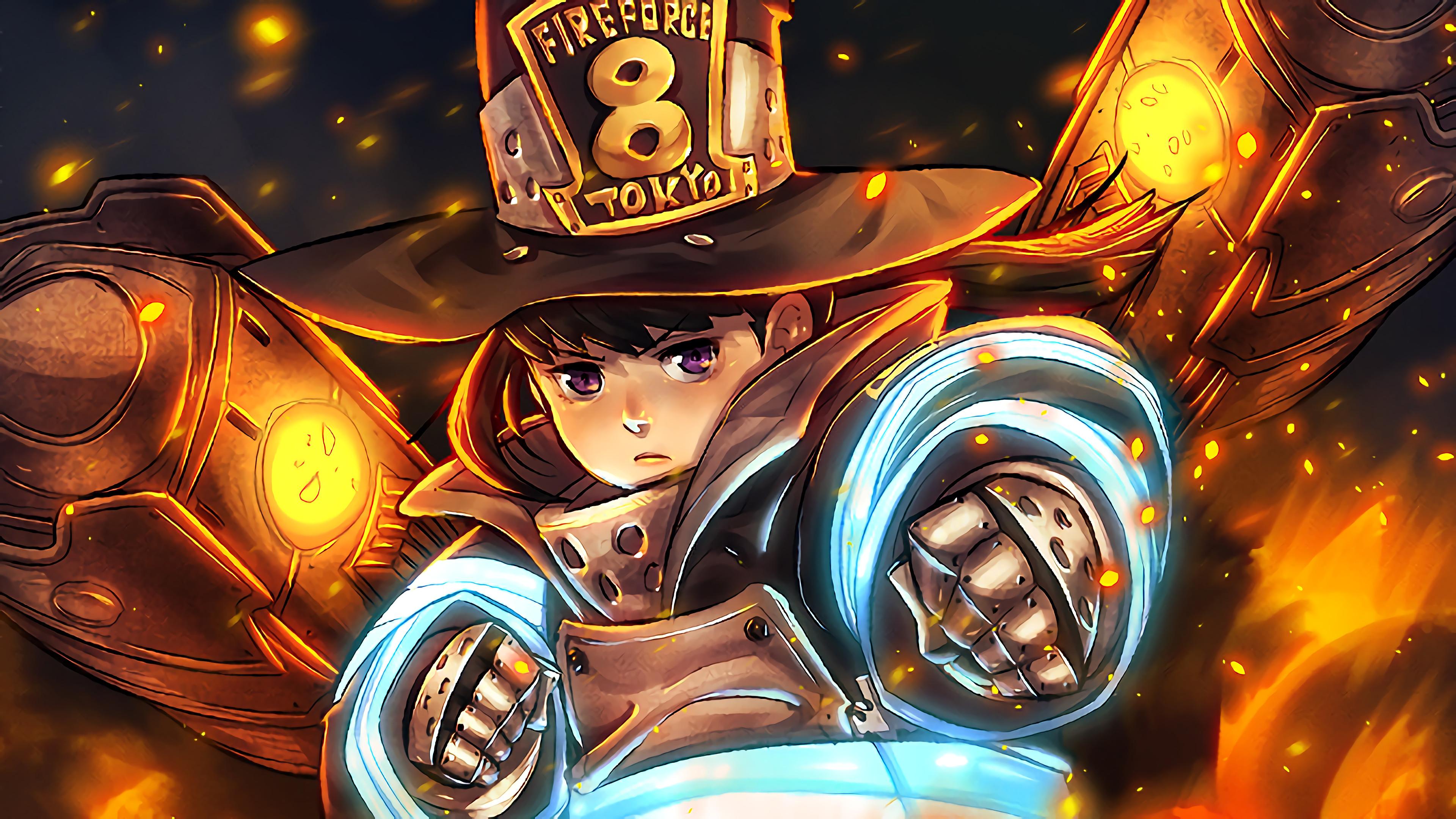 Sci Fi Wallpaper Iphone 6 Fire Force Maki Oze 4k 23 Wallpaper