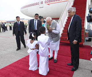 modi-arrives-to-red-carpet-welcome-in-sri-lanka