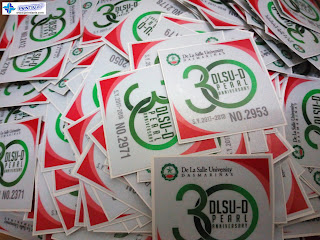 Reflective Car Stickers - La Salle Dasmarinas, Cavite, Philippines