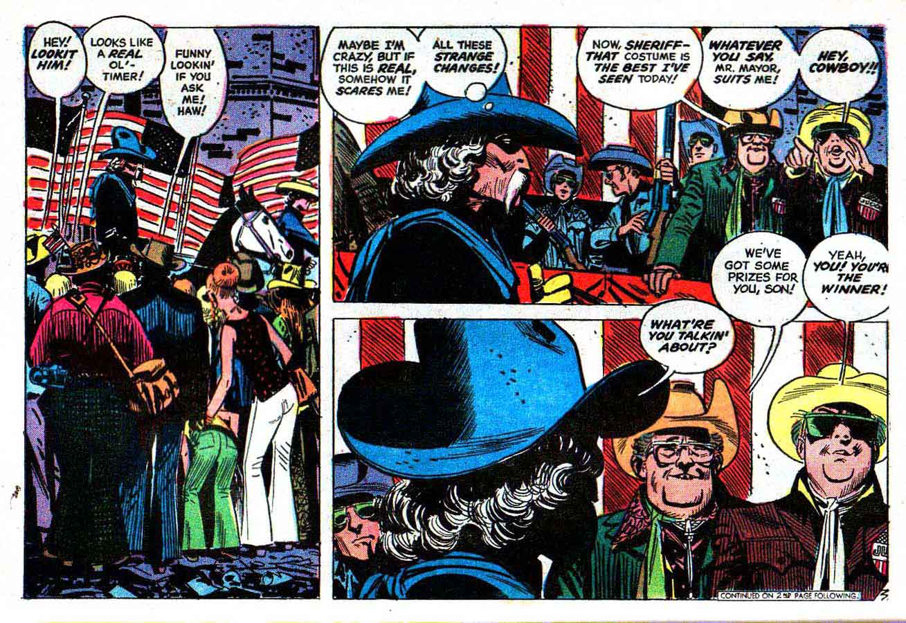 Weird Western Tales v1 #14 dc 1970s bronze age comic book page art by Alex Toth