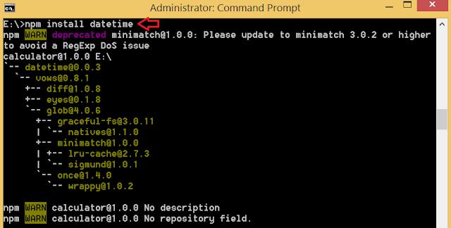 install npm module