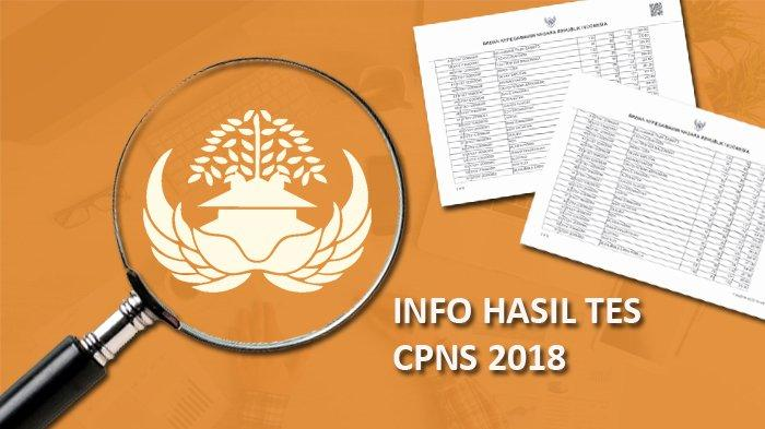 Hasil SKD CPNS 2018