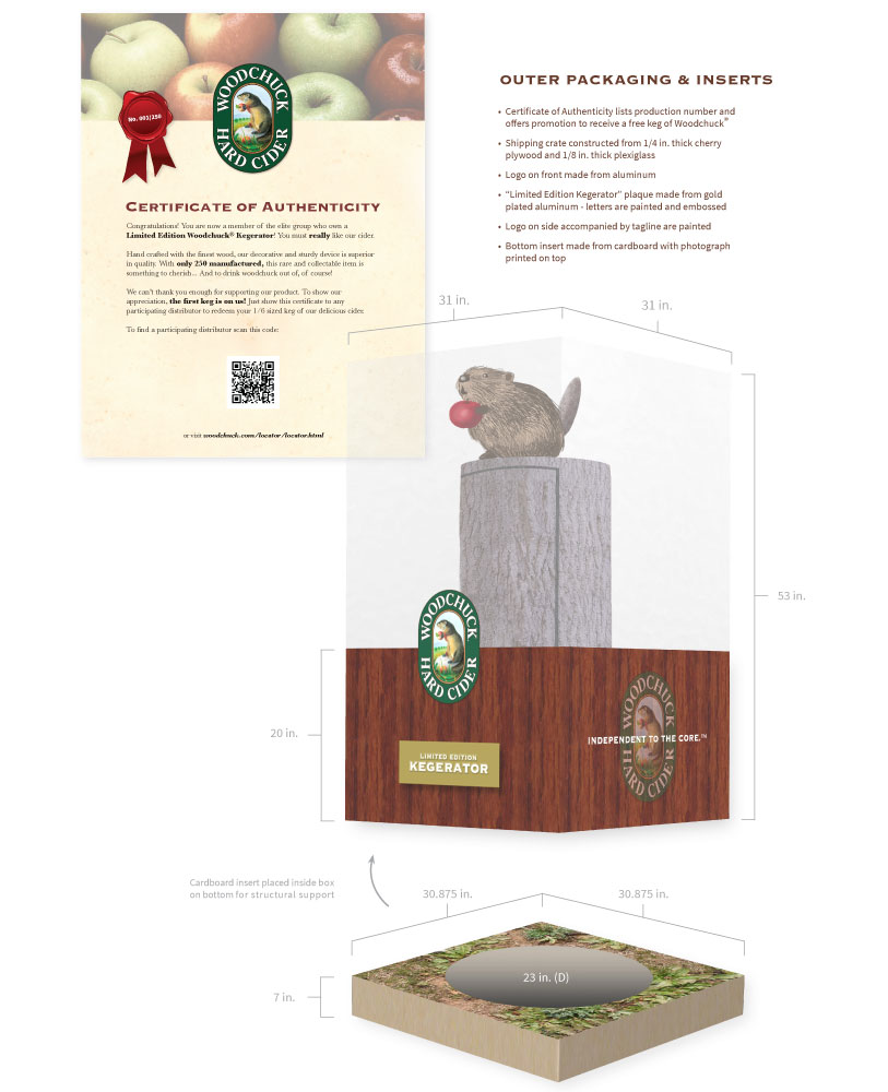 Woodchuck Limited Edition Kegerator Outer Packaging & Inserts: Design by Lisa DeAngelo