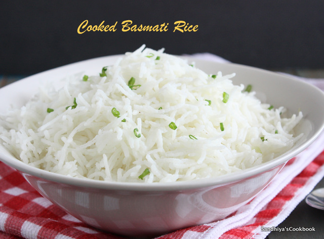 sandhiya s cookbook how to cook perfect basmati rice in a pan