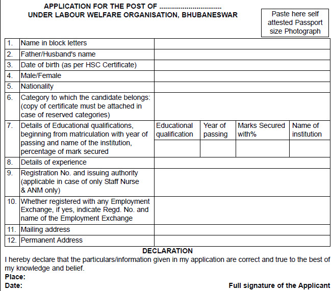Recruitment For Pharmacists 04 Posts Under Labour Welfare
