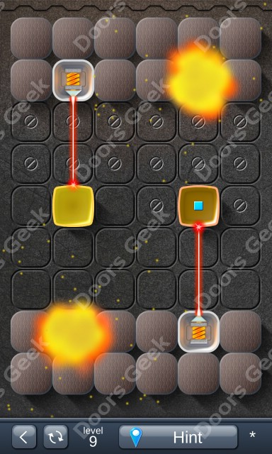 Solution for Laser Box - Puzzle (Basic) Level 9