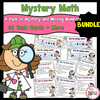 Mystery Math includes 3 math centers