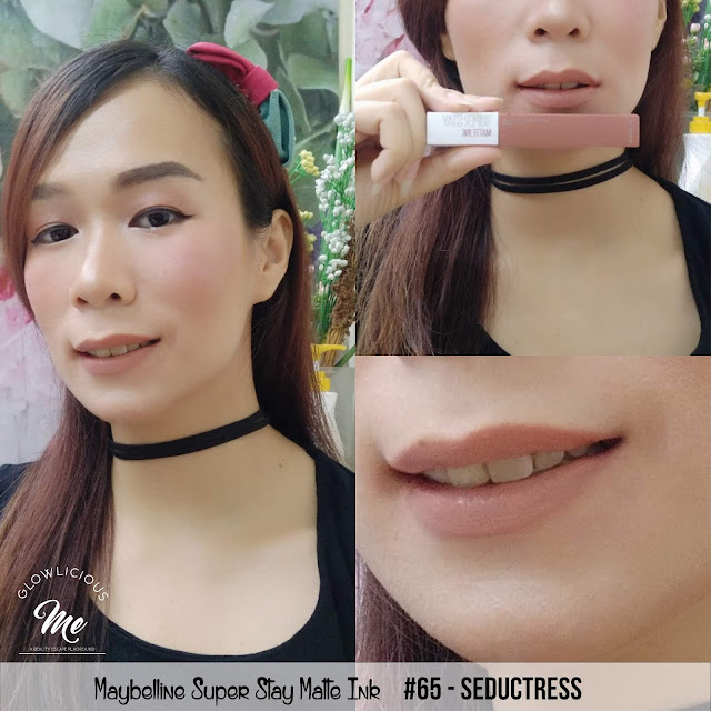 Maybelline Super Stay Matte Ink #65 Seductress - REVIEW LIPSTICK MAYBELLINE SUPER TAHAN LAMA 2