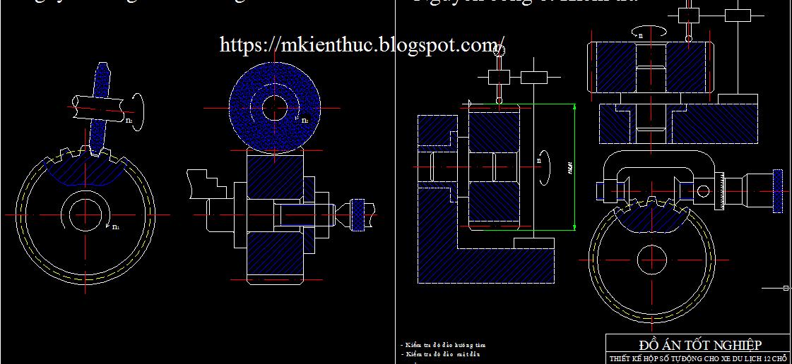 Bản vẽ đồ án thiết kế hộp số tự động