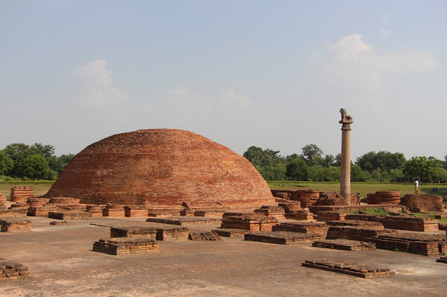 Remains of Ancient Vaishali and Ashoka Pillar , Kolhua ,Vaishali, Bihar India