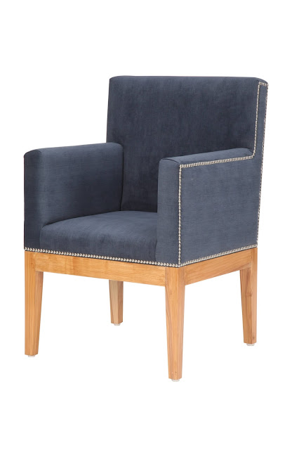 Denim Fabric Armchair by Casa Colour