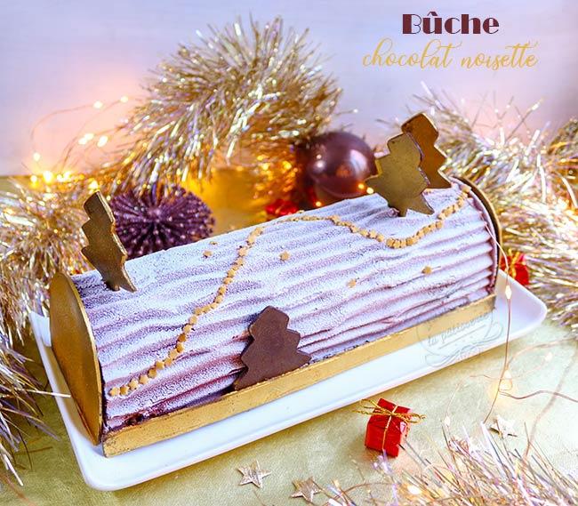 buche noel chocolat noisette