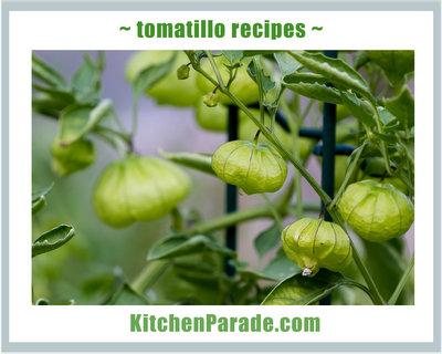 Tomatillo Recipes ♥ KitchenParade.com.