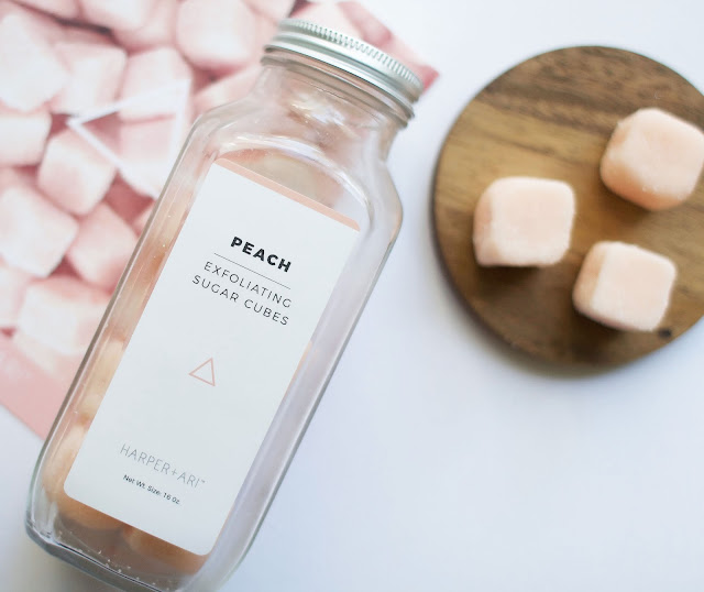 Harper + Ari, exfoliating sugar cubes, body products, bath products, bbloggers, smooth skin