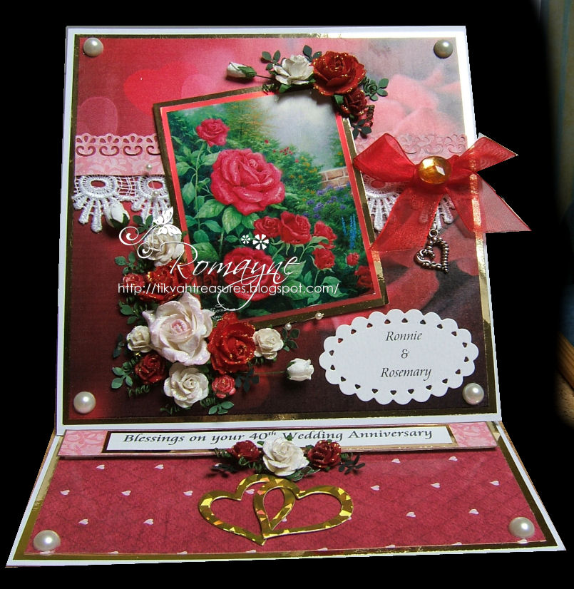 gentletouch cards 40th wedding anniversary card