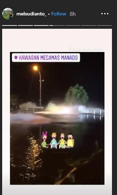 Miris! Gelombang Tinggi Terjang Kawasan Megamas di Manado, Warga Malah Menonton