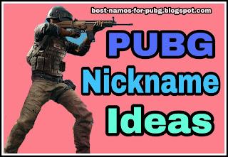 pubg nickname ideas
