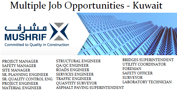 Mushrif Trading and Contracting Company Job Openings