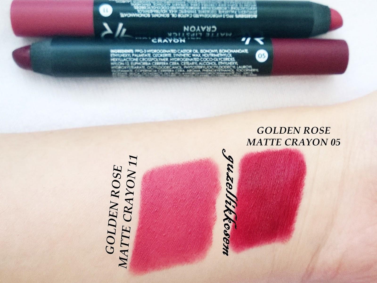 Golden Rose Matte Lipstick Crayon 05 11 Yorumlarım Güzellik Kösem