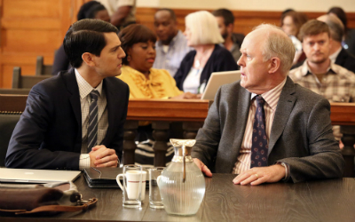 "Nicholas D'Agosto and John Lithgow in ""Trial and Error"""