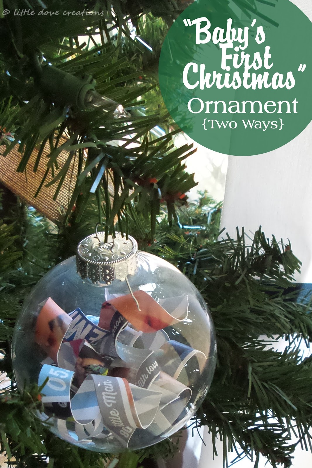 Diy Babys First Christmas Ornaments Little Dove Blog