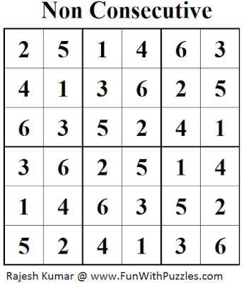Non Consecutive Sudoku (Mini Sudoku Series #30) Solution