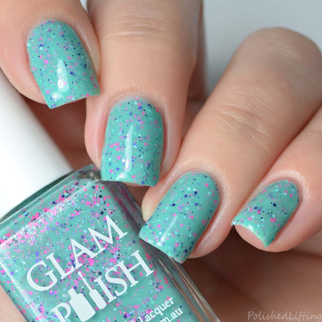 teal crelly nail polish