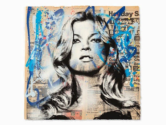 """Kate Moss"", by Mr. Brainwash (2016)"