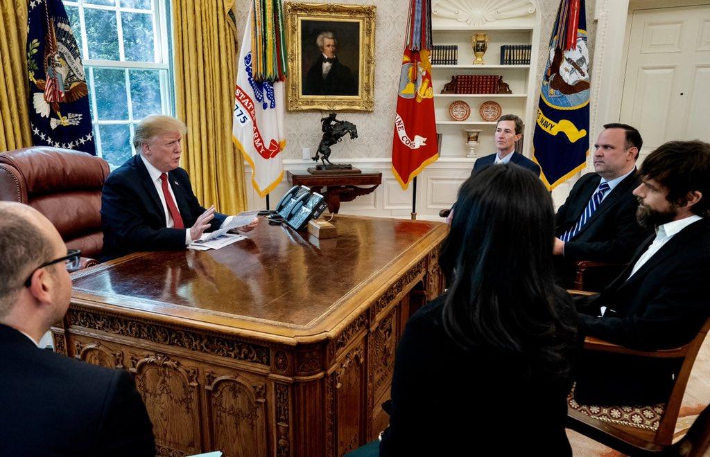 تقرير : ترامب يلتقي رئيس تويتر التنفيذي