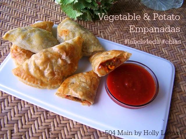Vegetable and Potato Empanadas and Campbell's Labels for Education #labels4edu #cbias
