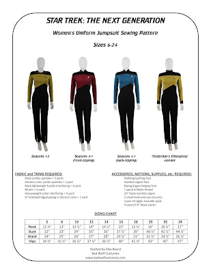 Women's TNG jumpsuit sewing pattern