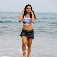 Rachana hot wet at beach