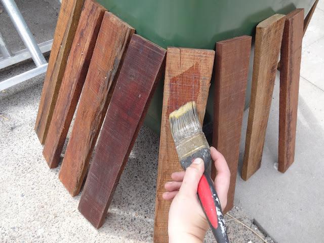 treating pallet wood