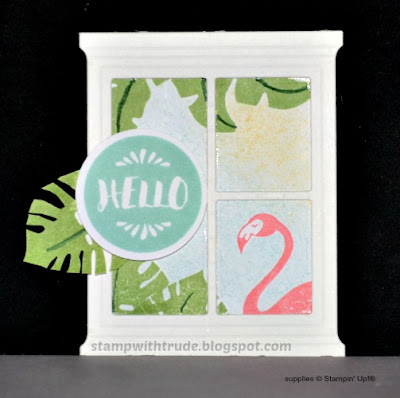 Pop of Paradise, flamingo, card candy, Stampin' Up!, Stamp with Trude