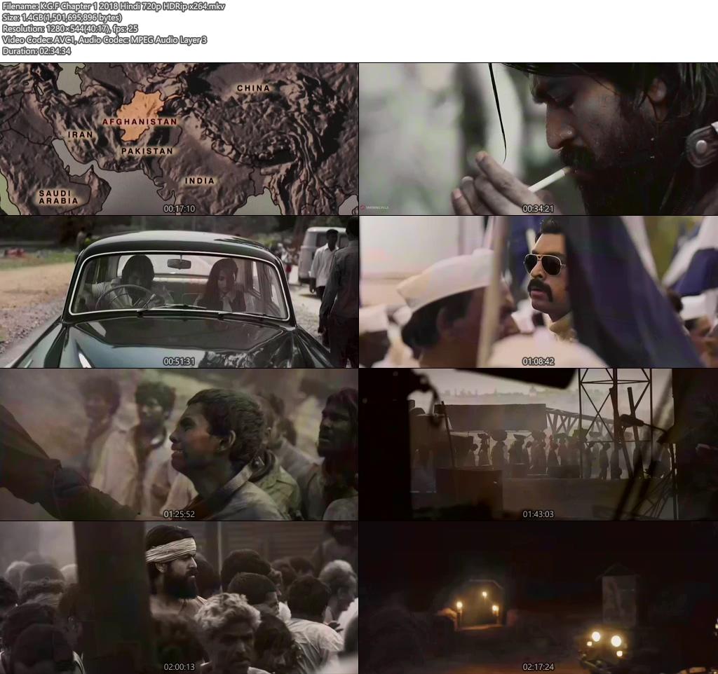 K.G.F Chapter 1 2018 Hindi 720p HDRip x264   480p 300MB   100MB HEVC Screenshot