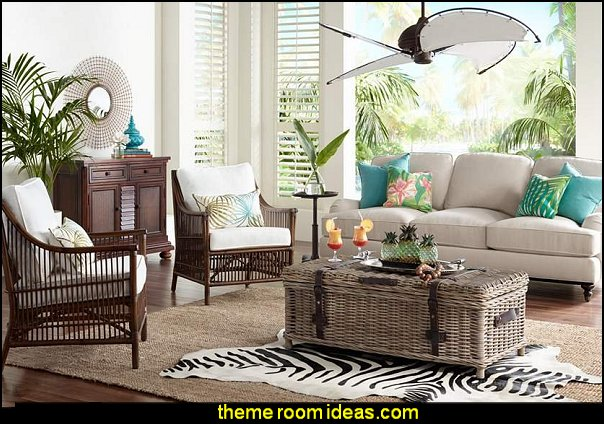 Tropical beach style bedroom decorating ideas - beach bedrooms - surfer theme rooms - tropical theme & Decorating theme bedrooms - Maries Manor: Tropical beach style ...