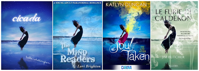 Cicada by Belle Whittington, The Mind Readers by Lori Brighton, Soul Taken by Katlyn Duncan and Le Furie di Calderon by Jim Butcher