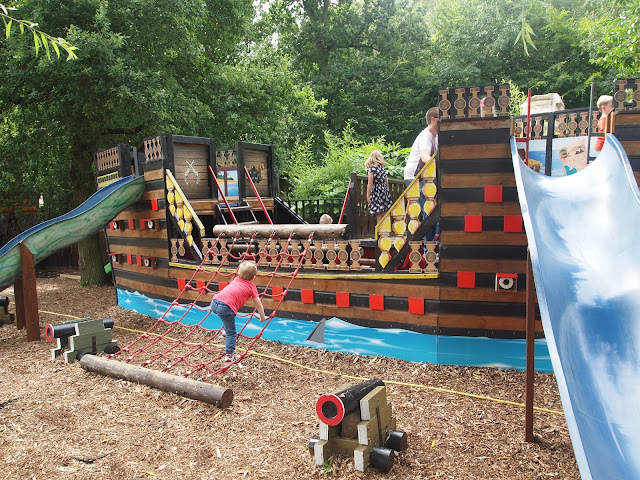 Pirate Ship Adventure Playground at Paradise Wildlife Park in Hertfordshire