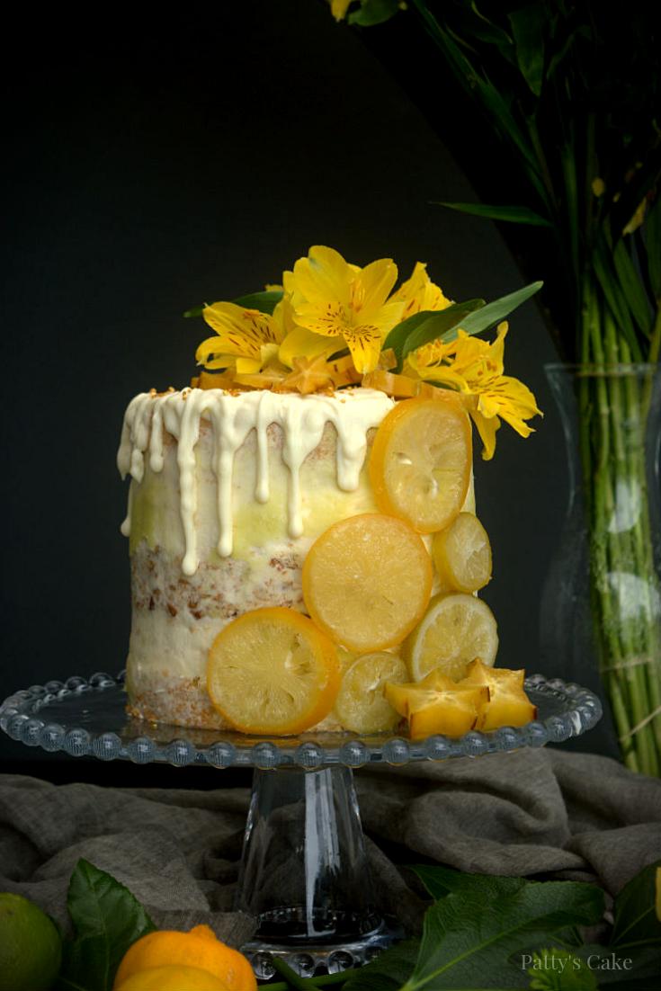 Tarta-layer-cake-de-crema-de-limón-y-crocante-de-pecanas