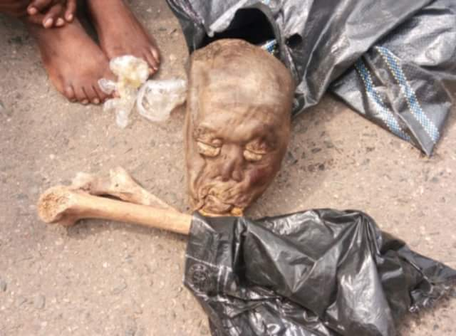 Photos: Suspected ritualists arrested with human parts in Ibadan