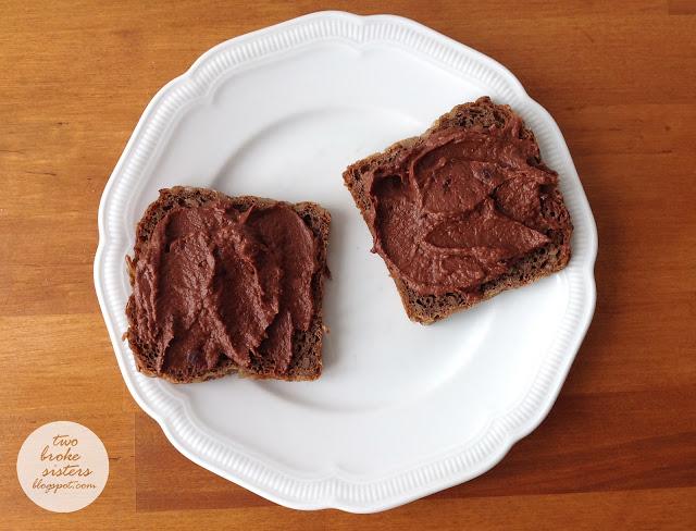cieciorella wegański krem czekoladowy nutella twobrokesisters