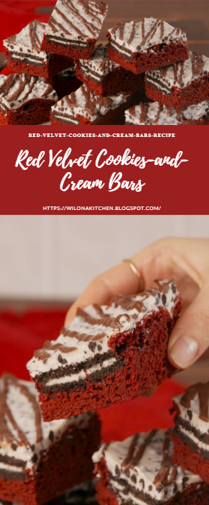 Red Velvet Cookies-and-Cream Bars