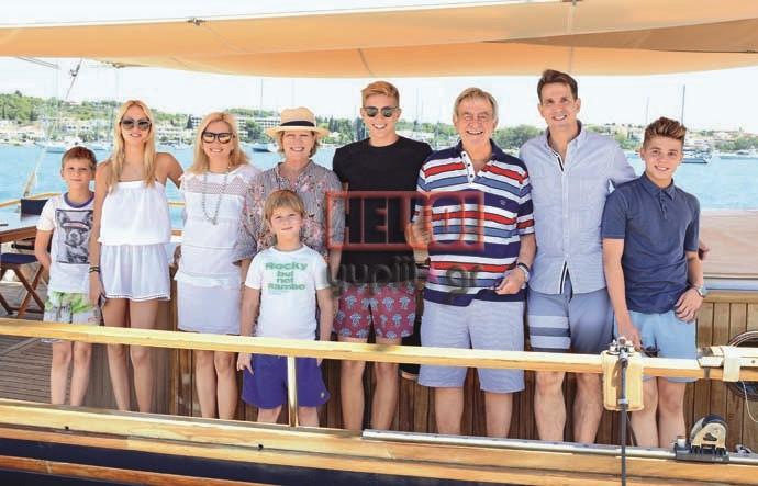 Королевская семья Греции на отдыхе в Порто Хели