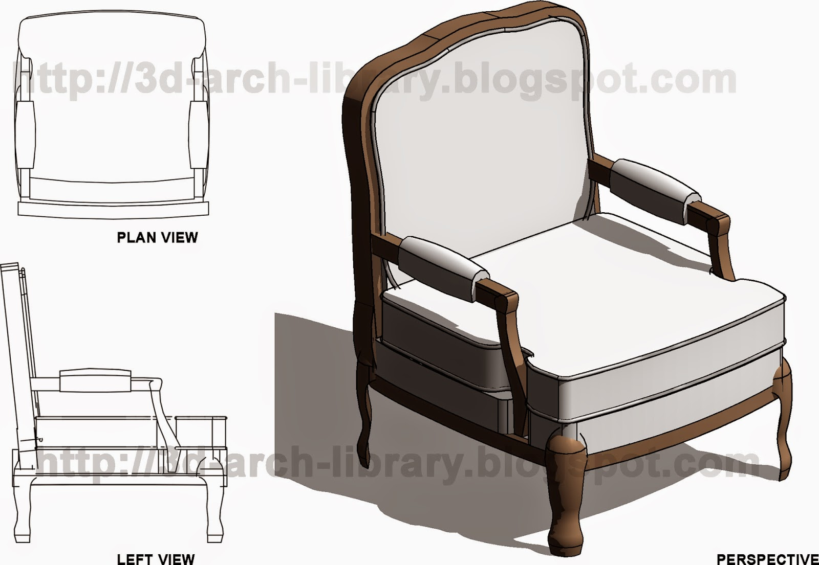 Classic Chair 001 - Revit Library - Furniture for Revit ...